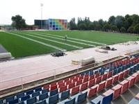 Instal·lació de gespa artificial al camp de futbol del Poliesportiu Municipal