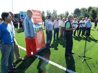 Instal·lació de gespa artificial al camp de futbol del Poliesportiu Municipal 3