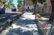 Millores a la vorera del carrer València