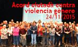 Acte de signatura de la renovació de l'Acord Ciutadà contra la violència de gènere