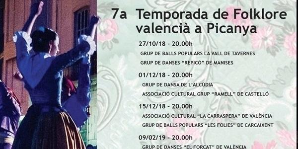 Arranca la 7a temporada de folklore valencià a Picanya