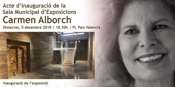 Inauguració de la Sala d'Exposicions Carmen Alborch