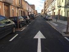 Obres d'asfaltat del carrer Colón