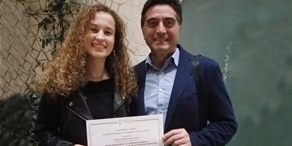 La picanyera Mariola Monfort, alumna de l'IES Enric Valor, premi extaordinari d'ESO