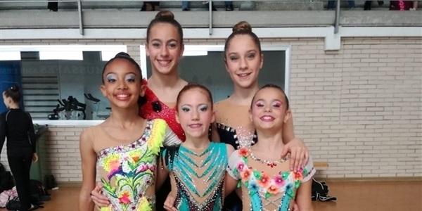 Bons resultats de la rítmica picanyera al Campionat d'Espanya nacional base