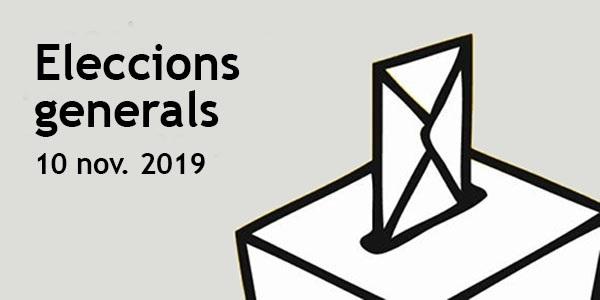 Meses electorals per a este diumenge 10 de novembre de 2019