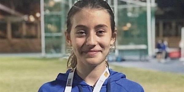 Emma Jiménez és  campeona provincial d'atletisme