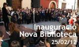 Acte d'inauguració de la nova Biblioteca i Centre d'Estudi